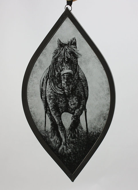 Draft Horse Stained Glass Suncatcher