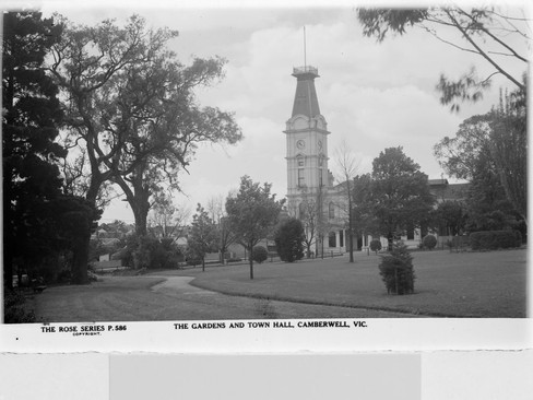 Camberwell Gardens and Town Hall SLV ima