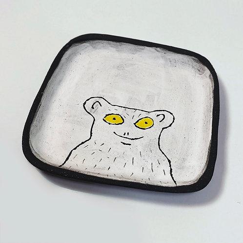 White Monkey, small plate