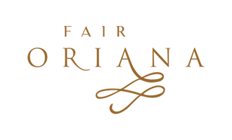 Fair Oriana logo gold with transparent b