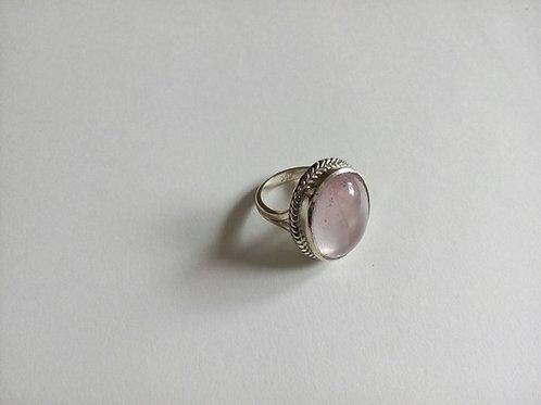 Кольцо.Розовый Кварц.