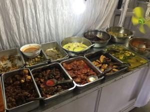 Indonesian food buffet