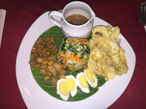 Delicious vegetarian food in Indonesia