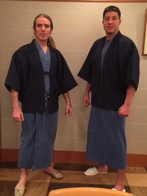 Charley turning Japanese with Scott Watson