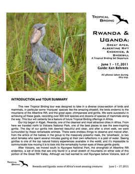 Rwanda & Uganda Set-Departure