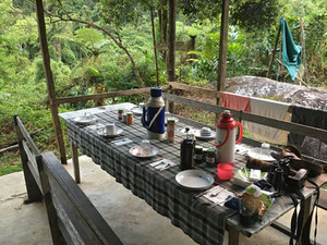 Dining area at Marojejy Camp 1