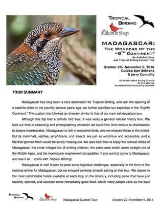 Madagascar Custom