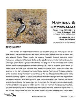 Namibia & Botswana Set-Departure