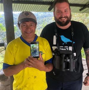 Tony with the legendary Angel Paz in Ecuador