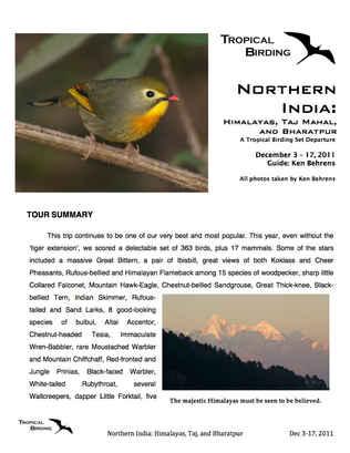 North India Set-Departure