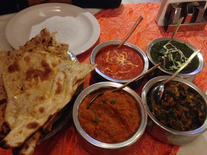 Indian curries and Naan