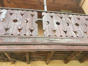 Traditional Betsileo balcony
