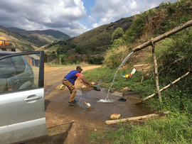 Roadside dish and car washing!