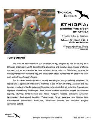 Ethiopia Set-Departure
