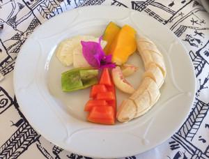 Fresh fruit for breakfast in Madagascar