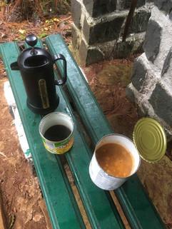 Life in camp. Nice coffee mug, eh?!