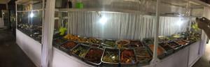 Indonesian food buffet on Biak