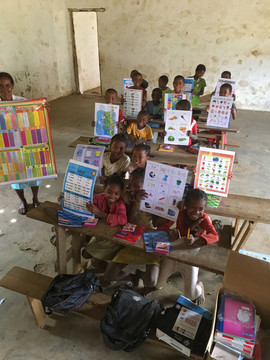 We stopped at a couple remote schools and donated school materials to the kids on behalf of 8th Continent Expeditions