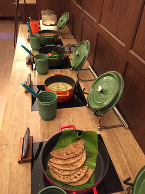 Indian food buffet in Tamil Nadu