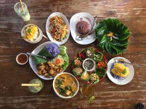 Delicious Thai veggie food