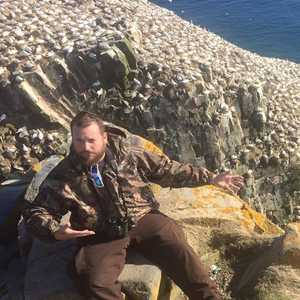 Tony with 30,000 gannets in Newfoundland