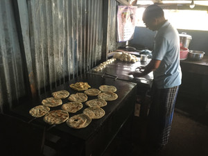 Chapatis cooking