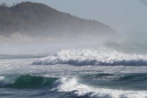 The coast at Bhanga Nek