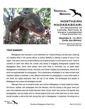 Northern Madagascar Phototour