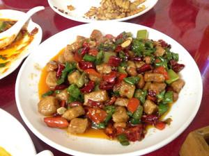 Spicy Sichuan dish