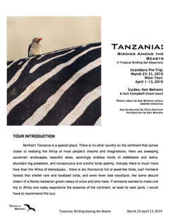 Tanzania Set-Departure