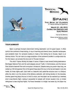 Southern Spain Set-Departure