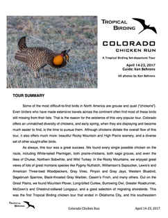 Colorado Set-Departure