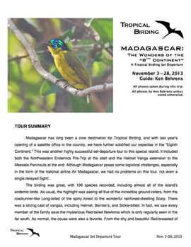 Madagascar Set-Departure