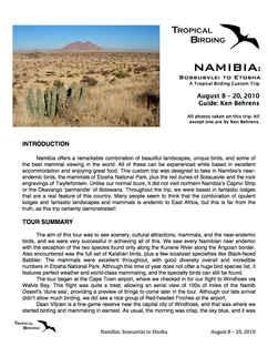 Namibia Custom