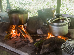Cooking fire at Camp 3, Marojejy