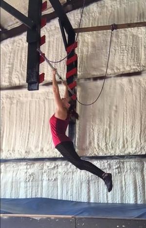 Tiffany training for American Ninja Warrior