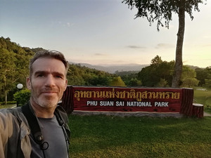 Selfie with the park sign. When in Rome.
