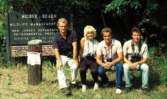 British Invasion, from left to right: Paul Holt, Deb Goldsmith, Richard Crossley, and Julian Hough. Cape May in Fall 1987.