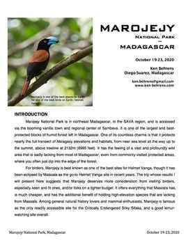 Marojejy NP, Madagascar