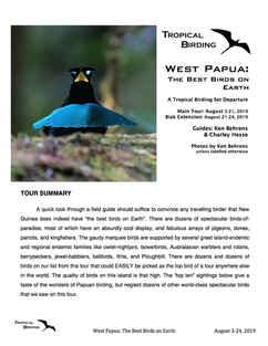 West Papua Set-Departure
