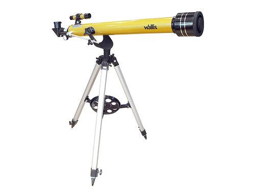 Telescopio refractor, montura altazimutal, 600X y 60 mm lente objetivo, beige
