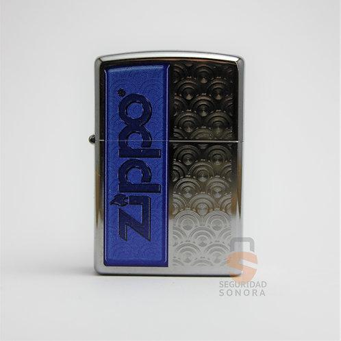 Zippo Half blue