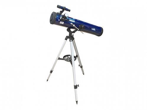 Telescopio reflector azul