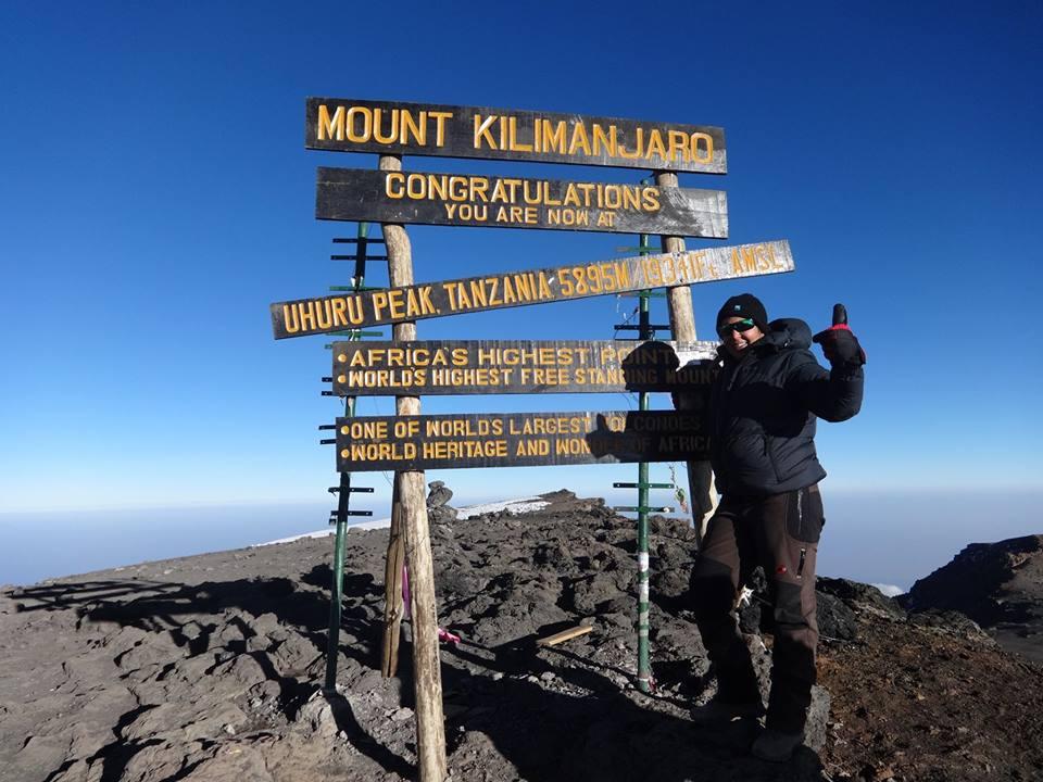 Sarveen climbs Kili