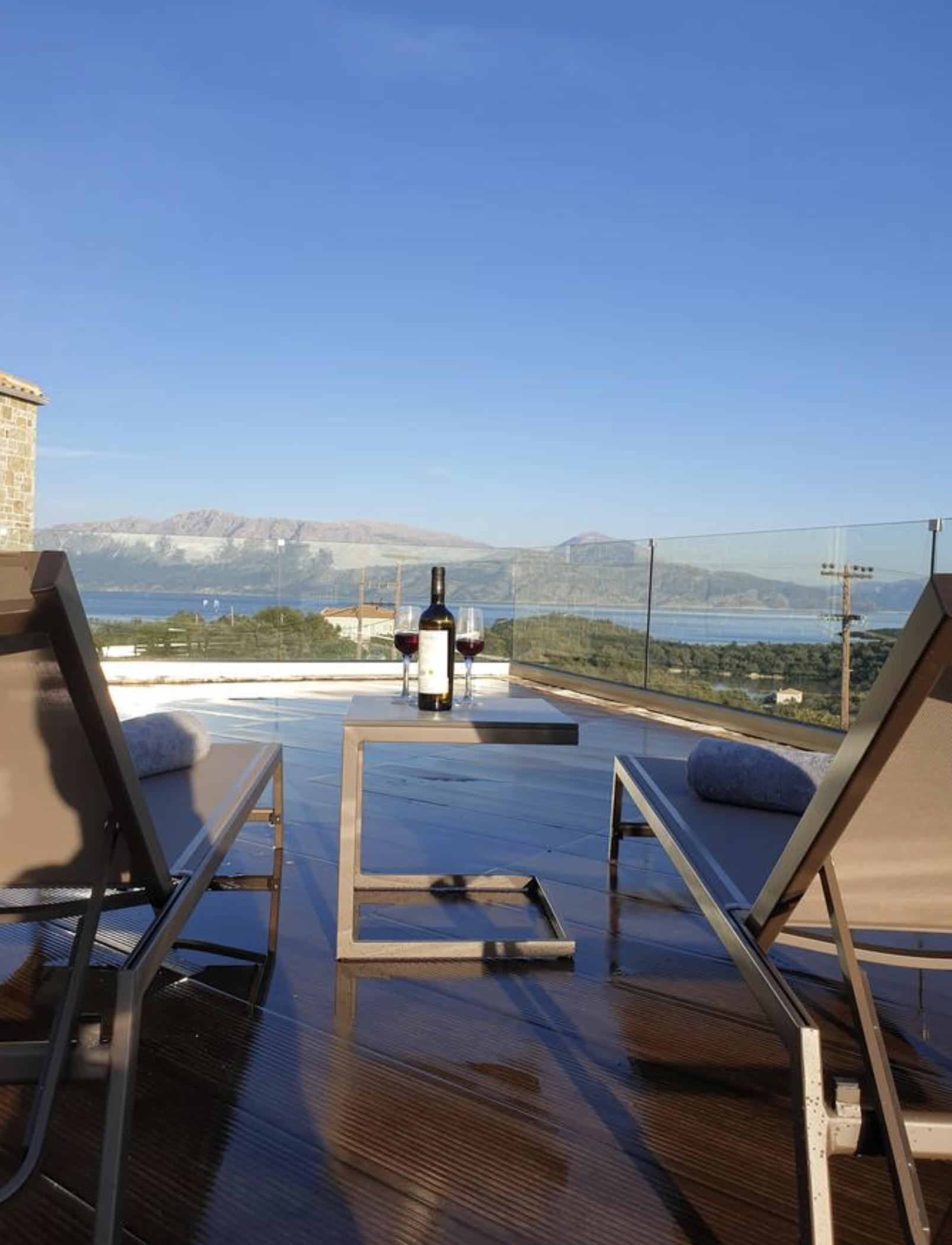 Twin Villas sunbed view