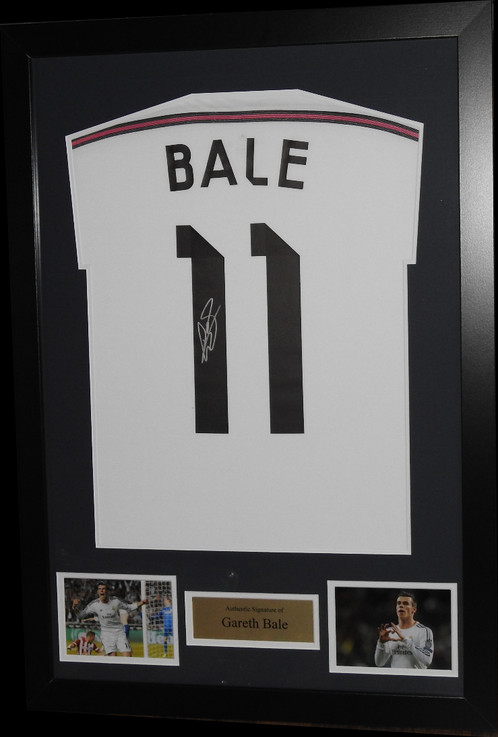 GARETH BALE SIGNED & FRAMED REAL MADRID FOOTBALL SHIRT | Authentic ...