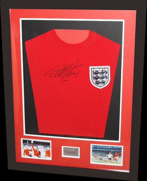 GEOFF HURST SIGNED & FRAMED ENGLAND 1966 REPLICA FOOTBALL SHIRT ...