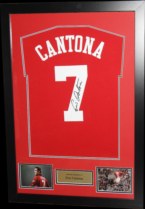 ERIC CANTONA SIGNED & FRAMED MANCHESTER UNITED FOOTBALL SHIRT | All ...
