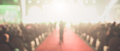 Disfocus of the red carpet in the award ceremony theme creative. background for success bu
