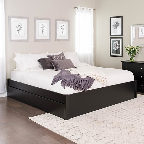 King Select 4-Post Platform Bed with Optional Drawers